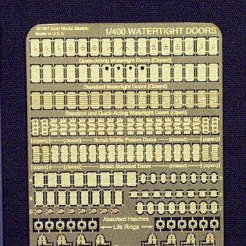 Gold Medal Models 1/400 scale watertight door photoetch