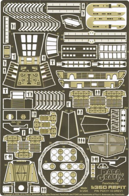 Paragrafix PGX111 Refit Enterprise Photoetch Set (1:350 scale)