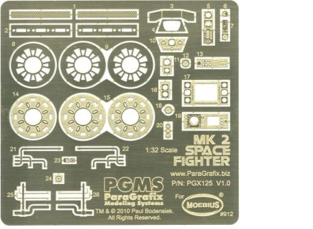 Paragrafix PGX125 Viper Mk 2 Photoetch & Decal Set