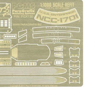 Paragrafix PGX130 Refit Enterprise Photoetch Set (1:1000 scale)