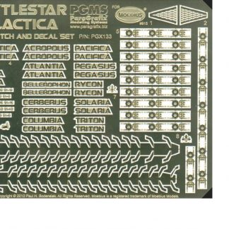 Paragrafix PGX133 Battlestar Galactica (2003) Photoetch/Decal Set
