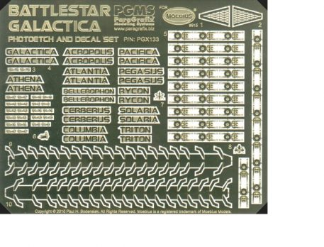 Paragrafix PGX133 Battlestar Galactica (2003) Photoetch/Decal Set
