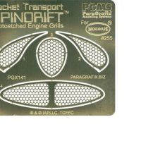 Paragrafix PGX141 Spindrift Photoetched Engine Grills