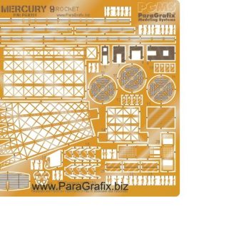 Paragrafix PGX151 Mercury 9 Rocket Photoetch Set