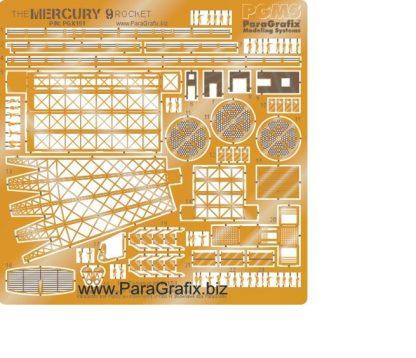 Paragrafix PGX151 Mercury 9 Rocket Photoetch Set