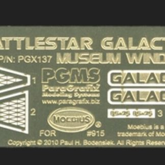 Paragrafix PGX137 Battlestar Galactica (2003) Museum Windows