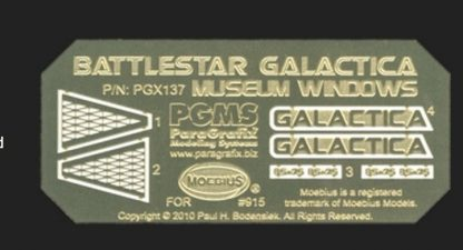 Paragrafix PGX137 Battlestar Galactica (2003) Museum Windows
