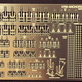 Gold Medal Models - 1/700- ANCHORS AND CHAINS (72 anchors, 6 styles, 4 each in 3 sizes) 700-20