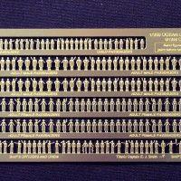 Gold Medal Models OCEAN LINER FIGURES )Set of 218 passengers, crew, orchestra) etches