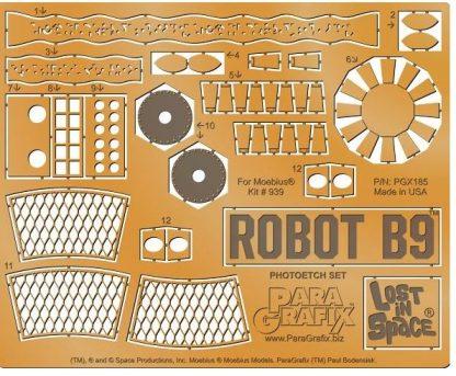 Paragrafix PGX185 Robot B9 Photoetch Set