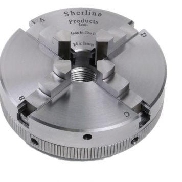 Sherline 2.5 Inch 4-Jaw Chuck
