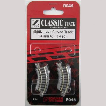 Rokuhan R046 Curved Track R45 45 Degree