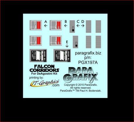 Paragrafix DeAgostini Falcon Corridors Photoetch Set PGX197