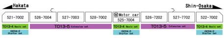 Rokuhan 3-Car Set T013-4 500 Series Shinkansen Evangelion