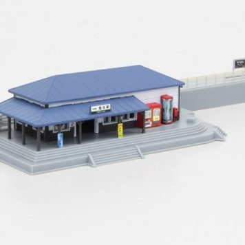 Rokuhan S047-1 Train Station (Blue) Set