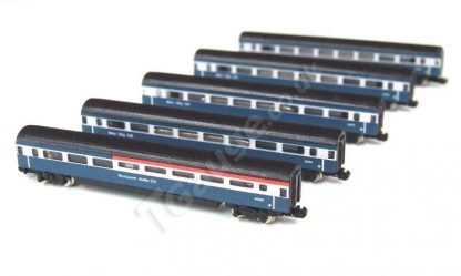 T Gauge TG-1255 HST Additional 5 Car Set