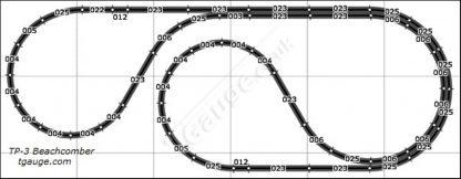 T gauge beachcomber track plan