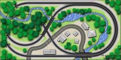 Folded Eight T gauge Track Plan