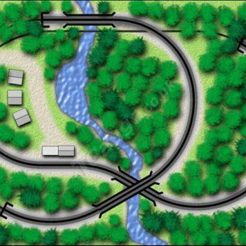 T Gauge Oakwood Track Plan
