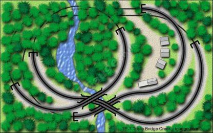 T gauge TP-7 Triple Bridge Creek Track Plans
