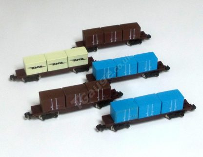T gauge 041 5 Container Wagon Set