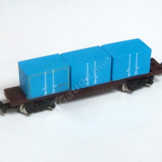 T Gauge Blue Container Wagon set 041-B