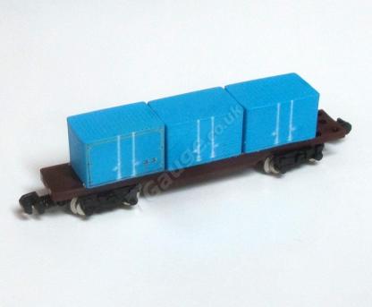 T Gauge Blue Container Wagon set 041-B