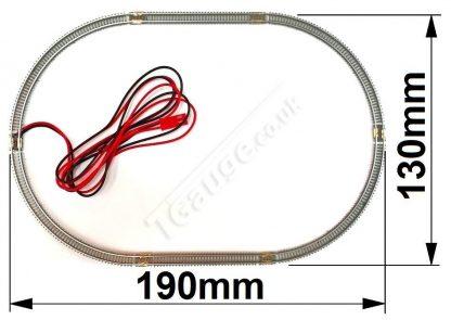 T gauge Brown Fine Track Set 60mm