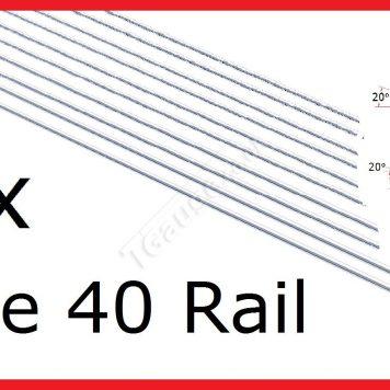 T Gauge 10 Lengths Code 40 Steel Rail R-4010