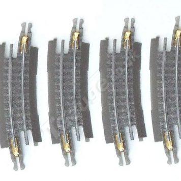 T gauge Curved Track R-015 – 4 Pack