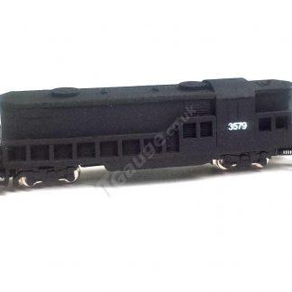 T gauge EMD GP8 Black Locomotive