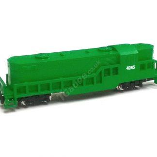 T Gauge Green EMD GP8 Green Locomotive EMD-GP8-G