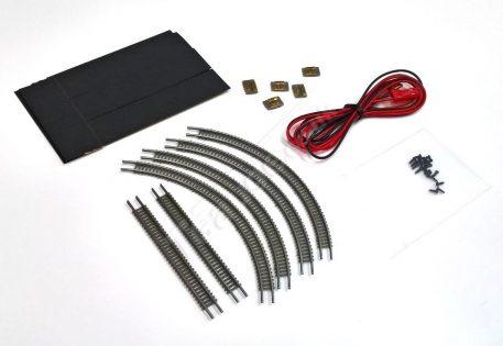 T gauge 70mm Grey Fine Track Set