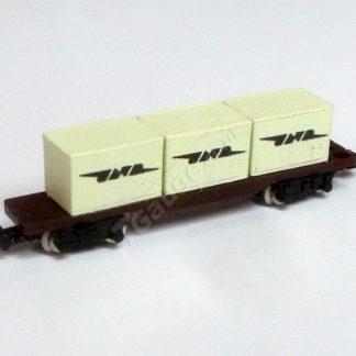 T Gauge Cream JNR Container Wagon