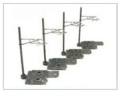 T Gauge A-002 Overhead Line for Single Track