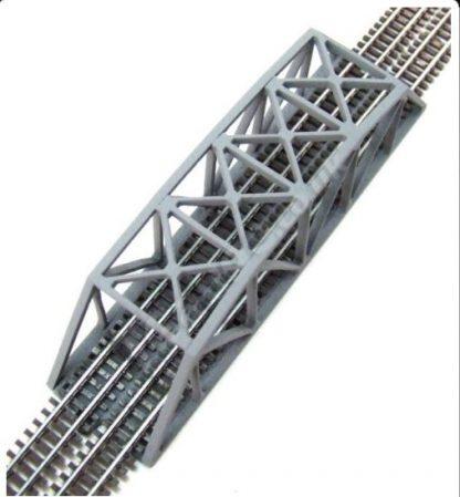 T Gauge Grey Truss Bridge top view
