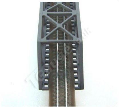 T Gauge Grey Truss Bridge Overhead
