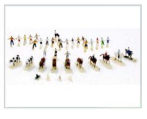 T Gauge F-001 Figure and Animal Set