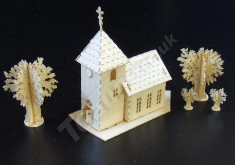 T Gauge B-074 Village Chapel Kit