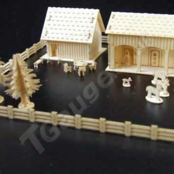 T Gauge Stable and Barn Block Kit B-077