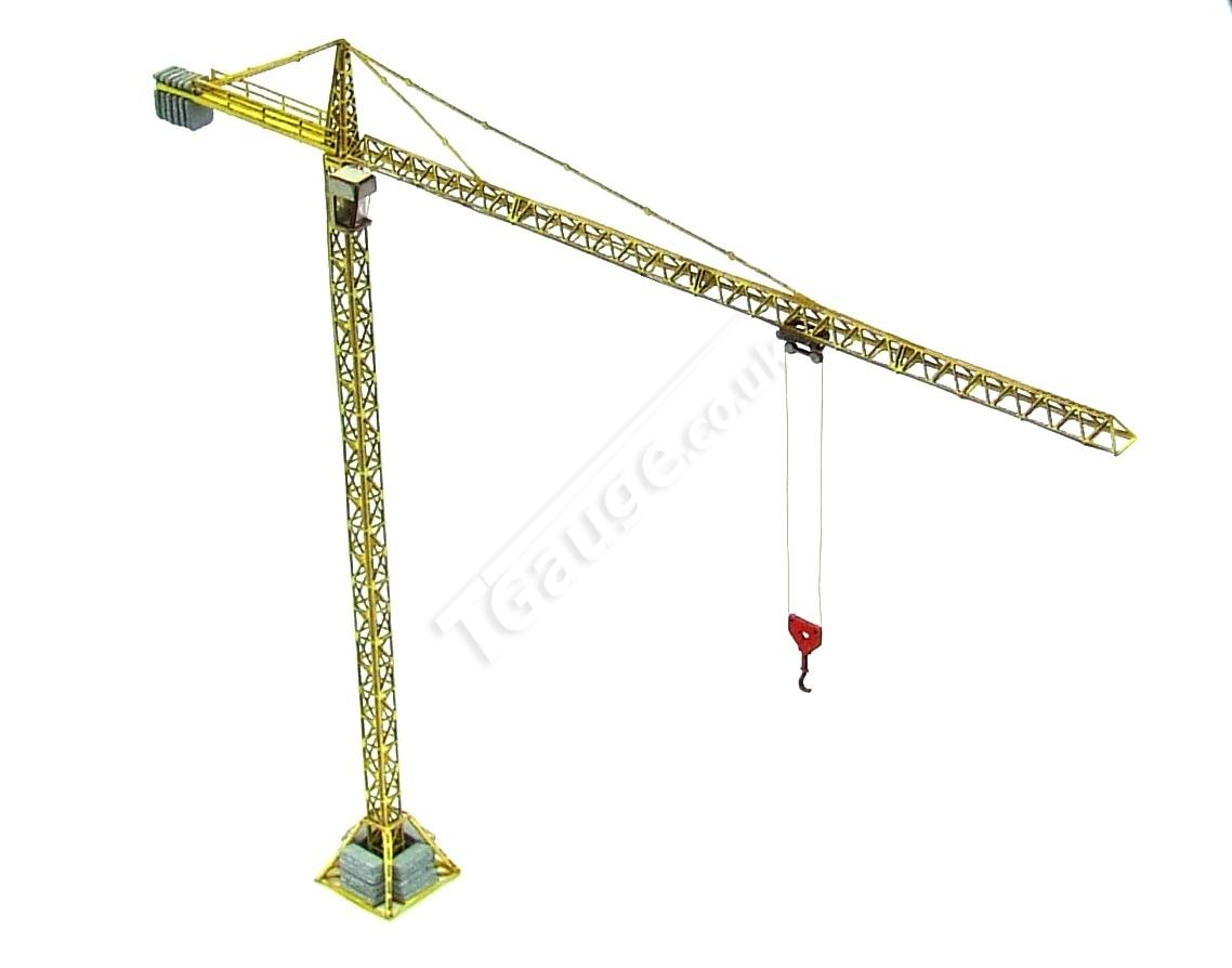 T Gauge 1:450 Scale Yellow Tower Crane TB-009
