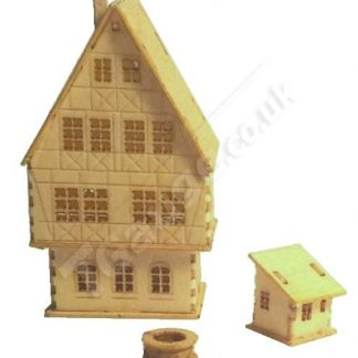 T Gauge B-097 Four Story Medieval House Kit
