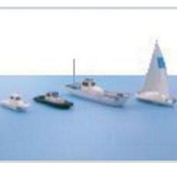 T Gauge Model Train Scenery Miniature Watercraft Set A (C-002)