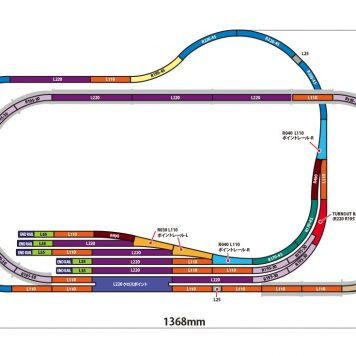 Rokuhan Z Scale Track Plan AB z gauge