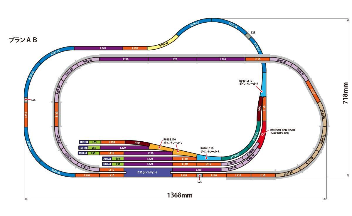Rokuhan Layout Plan  U0026quot Ab U0026quot  Complete Track Set  53 8 U0026quot  X 28 2