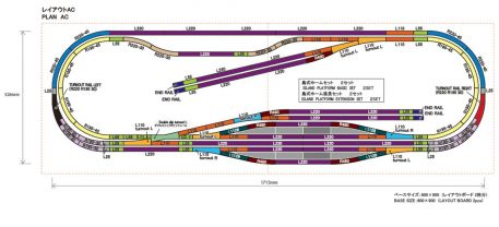 Rokuhan Z Scale Track Plan AC
