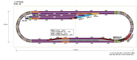 Rokuhan Z Scale Track Plan AD