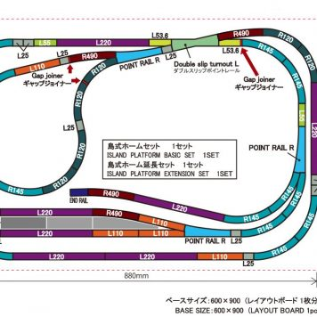 Rokuhan Z Scale Track Plan AH