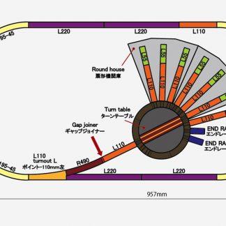 Rokuhan Z Scale Track Plan U