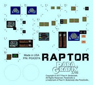 Paragrafix Raptor PGX207 Decals